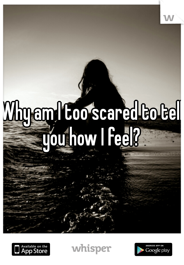 Why am I too scared to tell you how I feel?