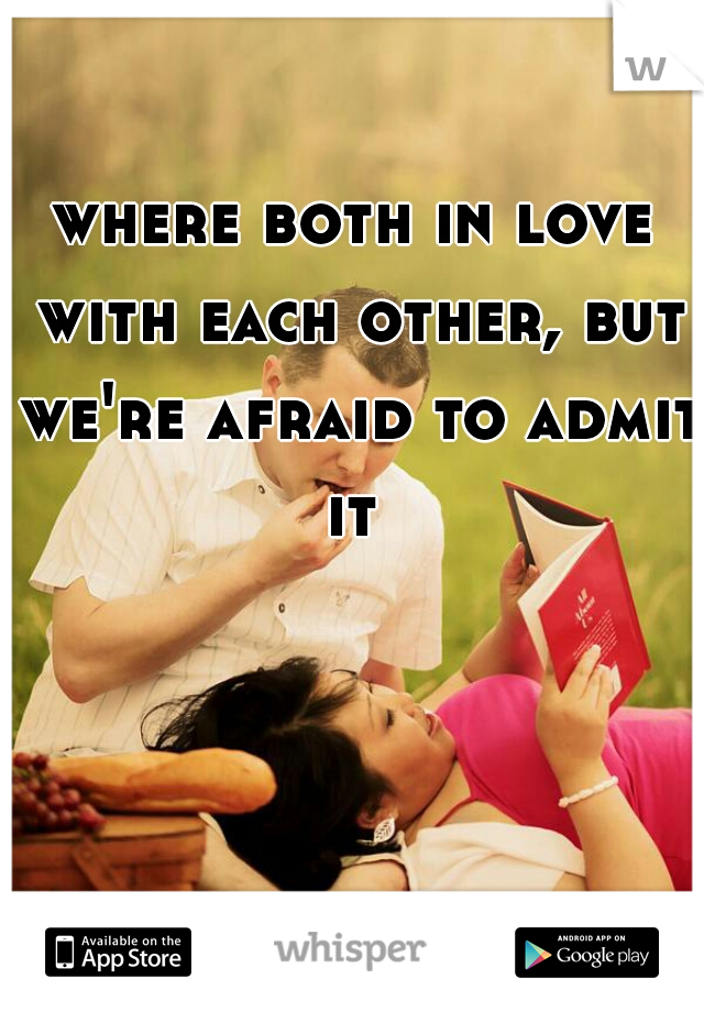 where both in love with each other, but we're afraid to admit it