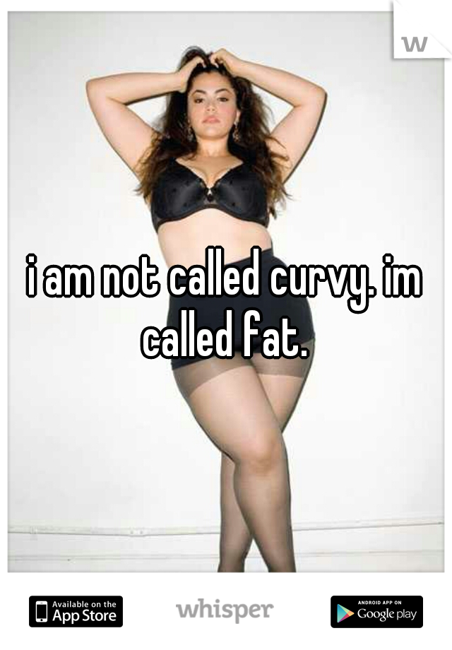 i am not called curvy. im called fat.