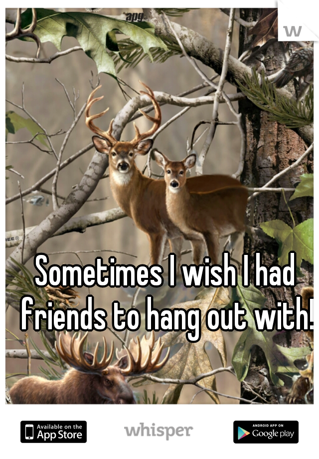 Sometimes I wish I had friends to hang out with!