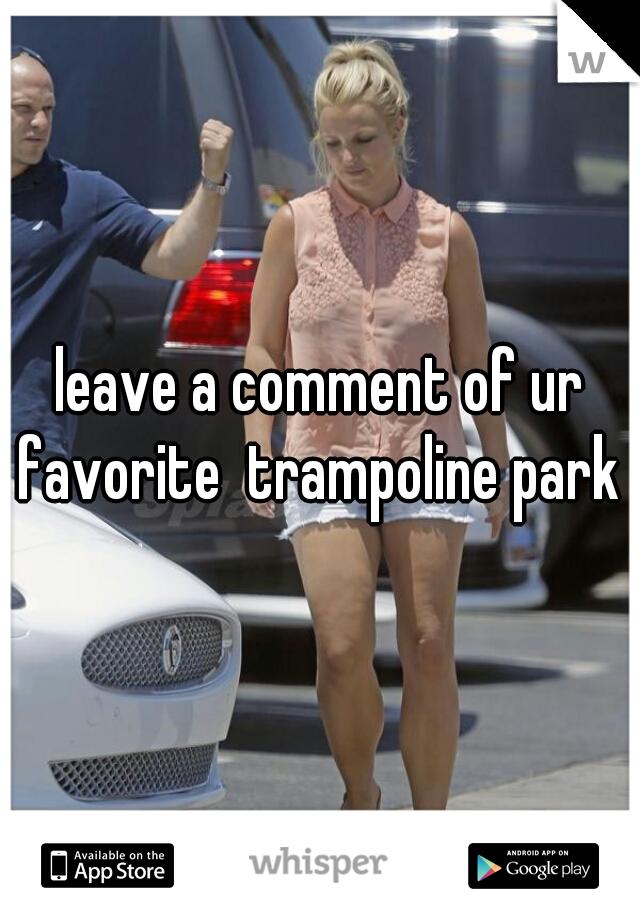 leave a comment of ur favorite  trampoline park