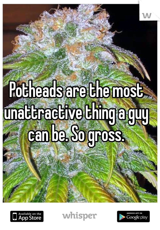 Potheads are the most unattractive thing a guy can be. So gross.