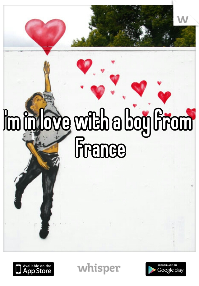 I'm in love with a boy from  France