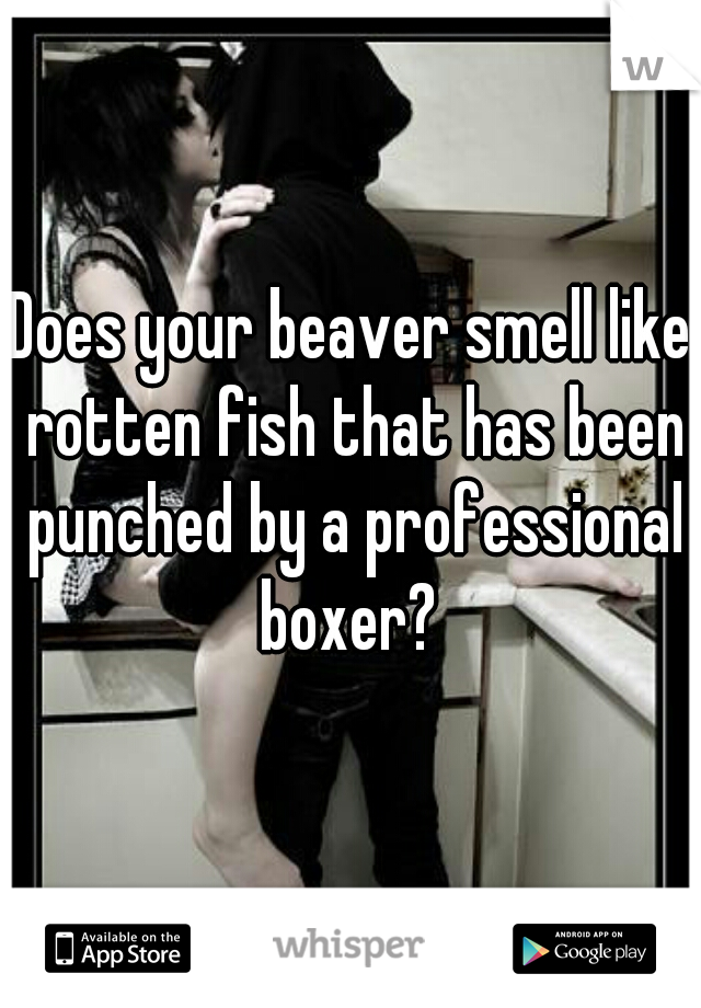 Does your beaver smell like rotten fish that has been punched by a professional boxer?