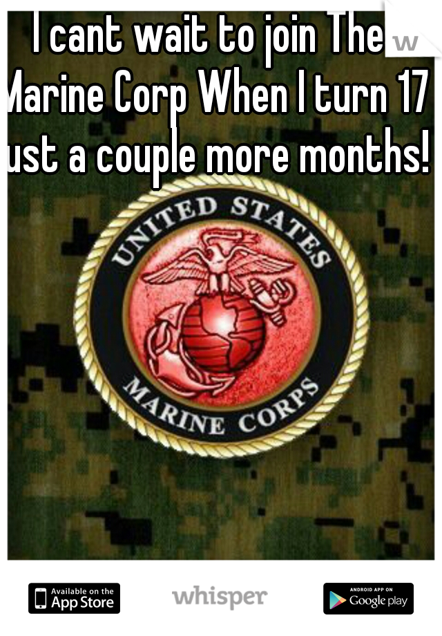 I cant wait to join The Marine Corp When I turn 17 just a couple more months!