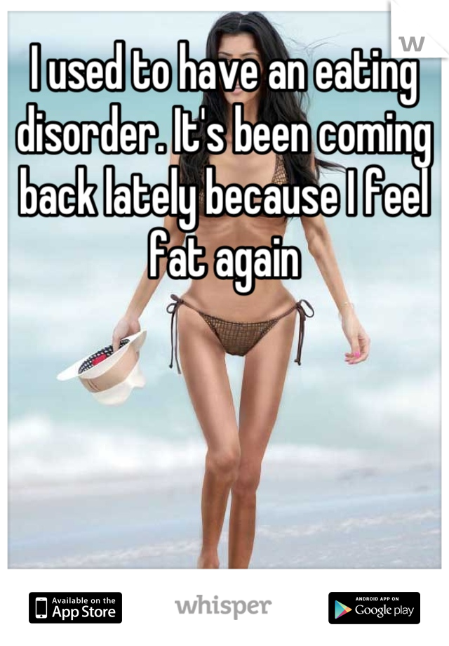I used to have an eating disorder. It's been coming back lately because I feel fat again