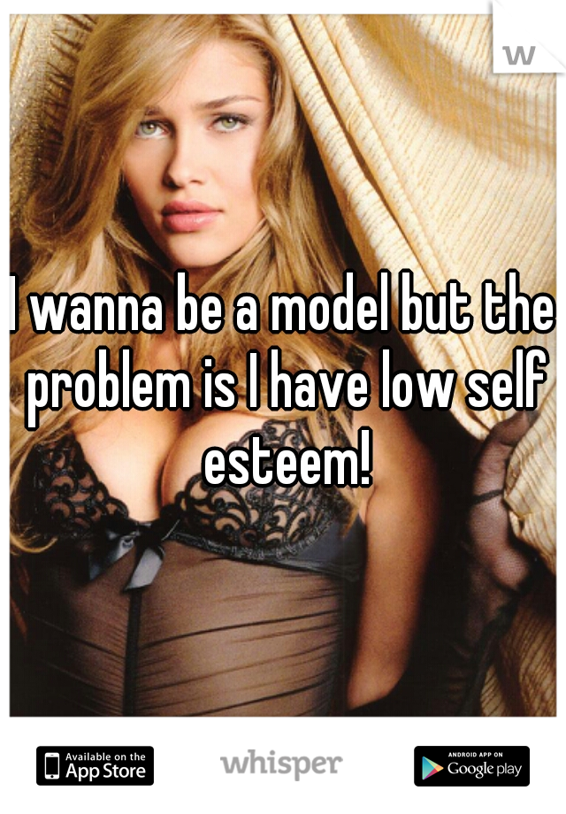 I wanna be a model but the problem is I have low self esteem!