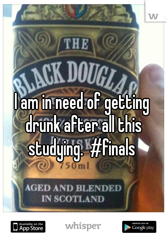 I am in need of getting drunk after all this studying.  #finals