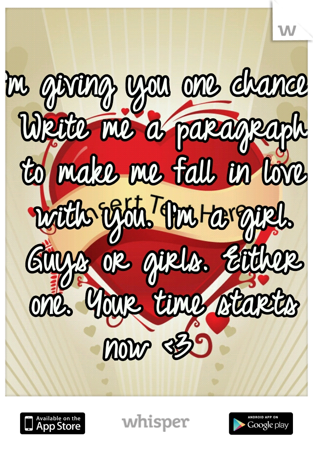 Paragraph to write to a girl