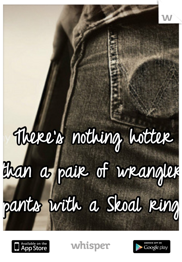 There's nothing hotter than a pair of wrangler pants with a Skoal ring!