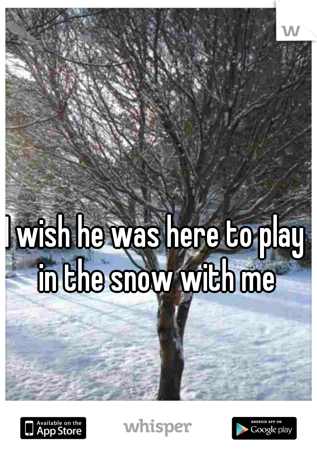 I wish he was here to play in the snow with me