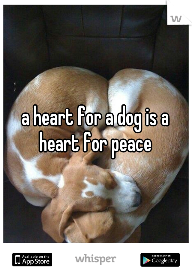 a heart for a dog is a heart for peace