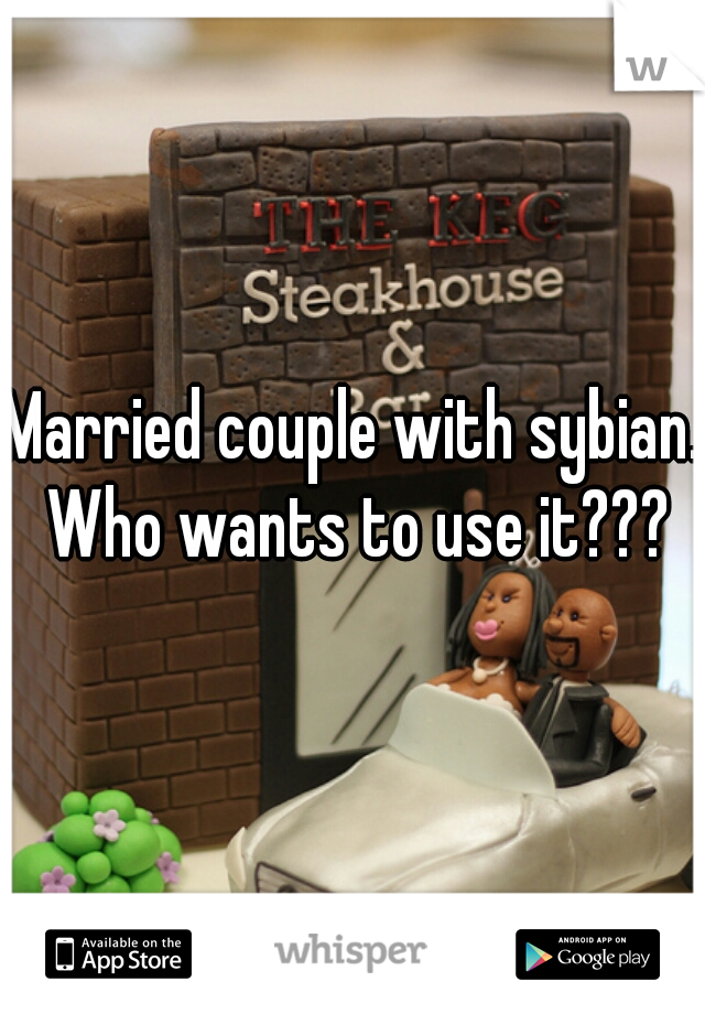 Married couple with sybian. Who wants to use it???