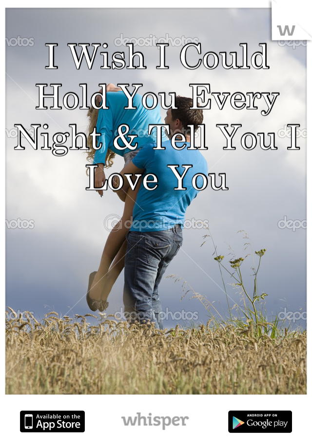 I Wish I Could Hold You Every Night & Tell You I Love You