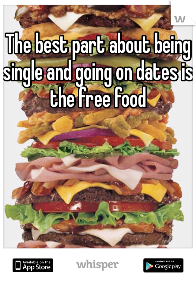 The best part about being single and going on dates is the free food