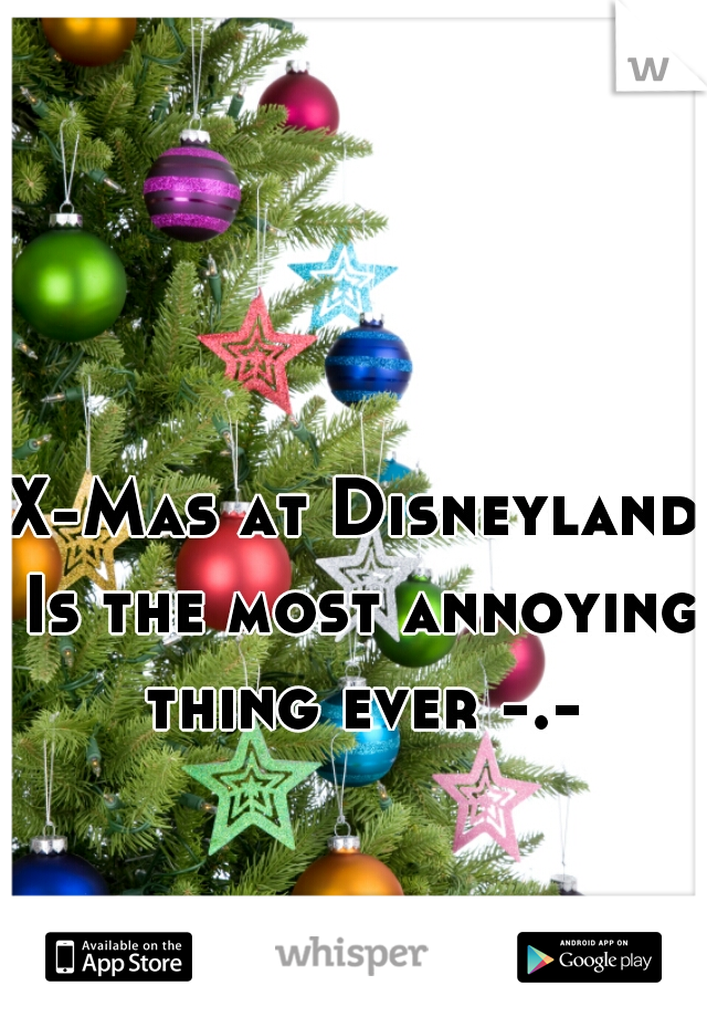X-Mas at Disneyland Is the most annoying thing ever -.-