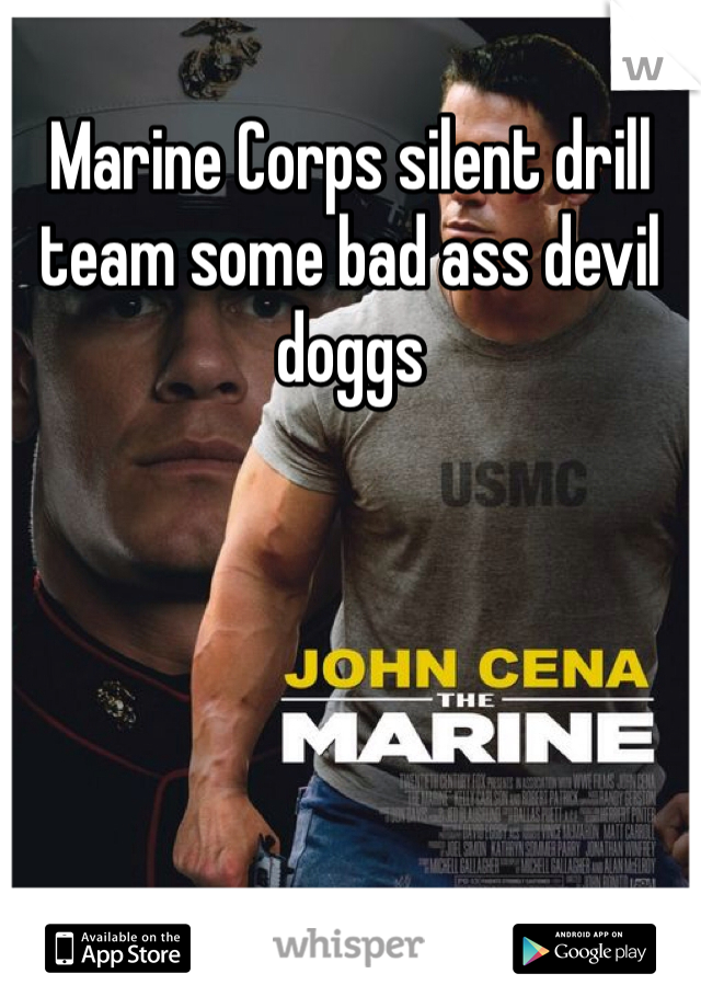 Marine Corps silent drill team some bad ass devil doggs