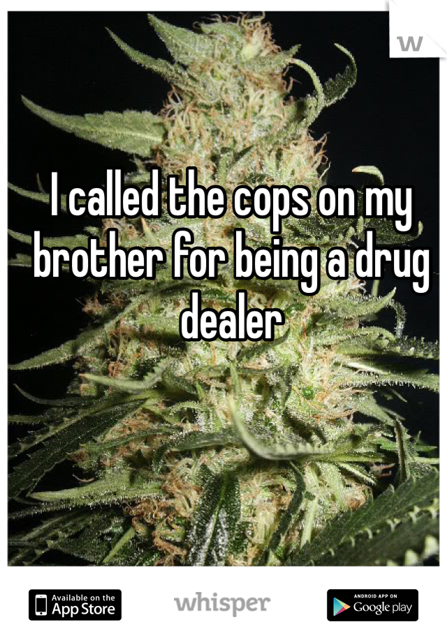 I called the cops on my brother for being a drug dealer