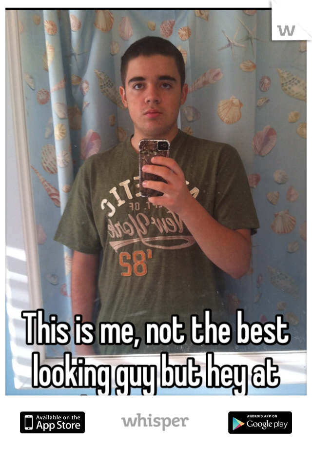 This is me, not the best looking guy but hey at least I am me