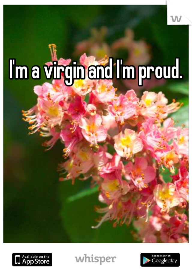 I'm a virgin and I'm proud.