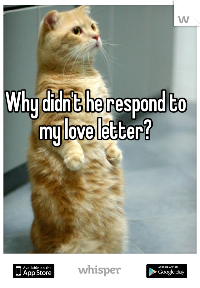 Why didn't he respond to my love letter?