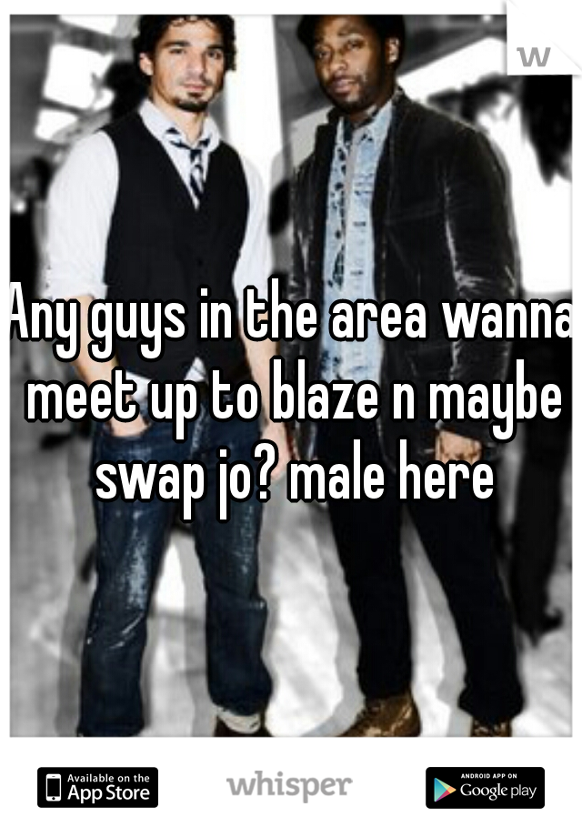 Any guys in the area wanna meet up to blaze n maybe swap jo? male here