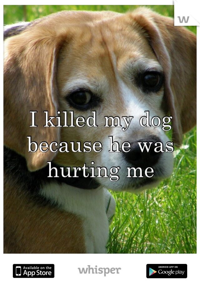 I killed my dog because he was hurting me