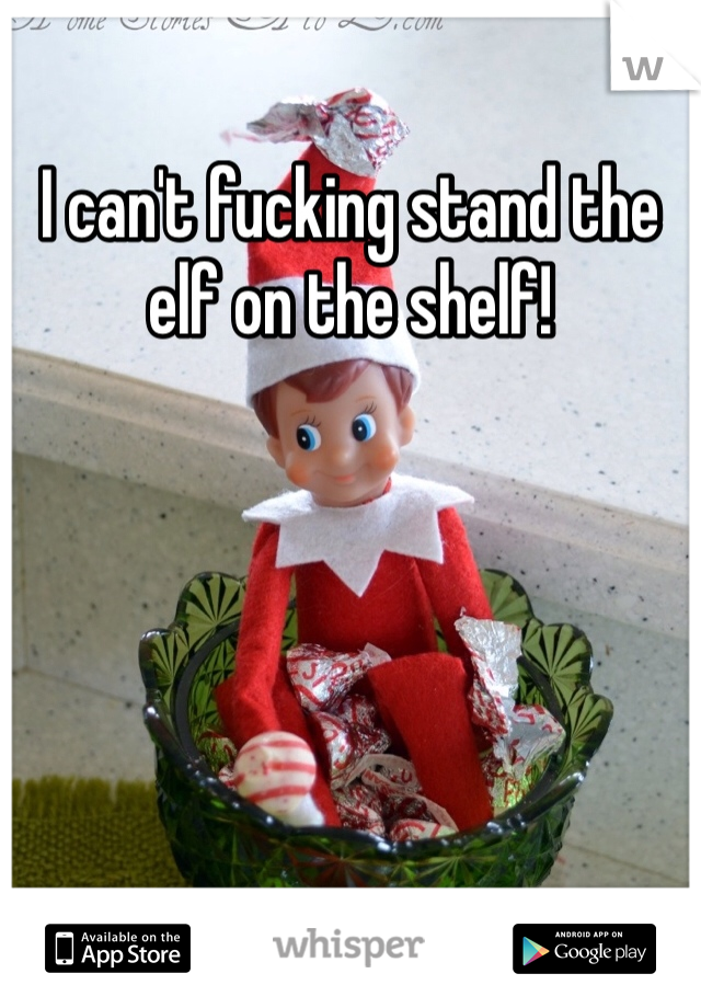 I can't fucking stand the elf on the shelf!
