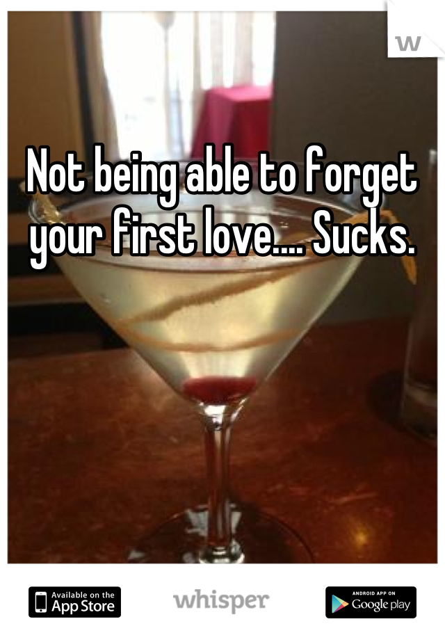Not being able to forget your first love.... Sucks.