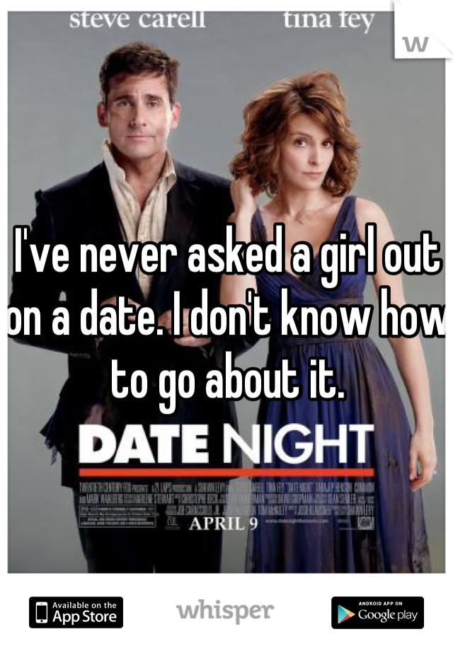 I've never asked a girl out on a date. I don't know how to go about it.