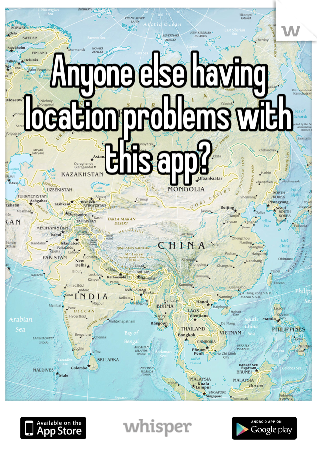 Anyone else having location problems with this app?