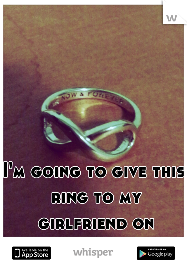 I'm going to give this ring to my girlfriend on christmas.