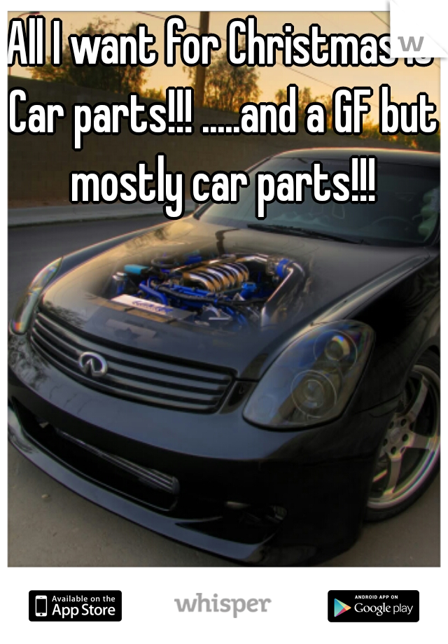 All I want for Christmas is Car parts!!! .....and a GF but mostly car parts!!!