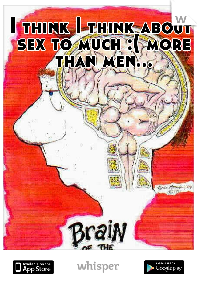 I think I think about sex to much :( more than men...