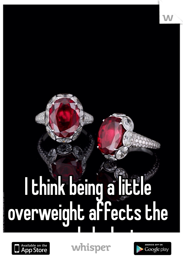 I think being a little overweight affects the way people look at me