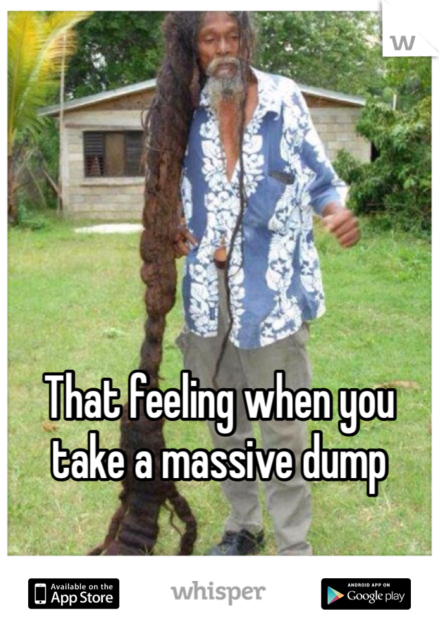 That feeling when you take a massive dump