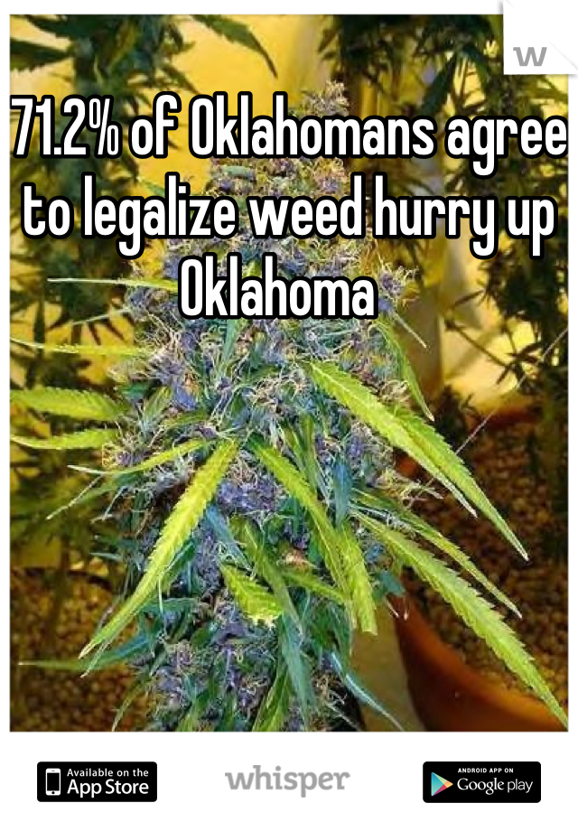 71.2% of Oklahomans agree to legalize weed hurry up Oklahoma