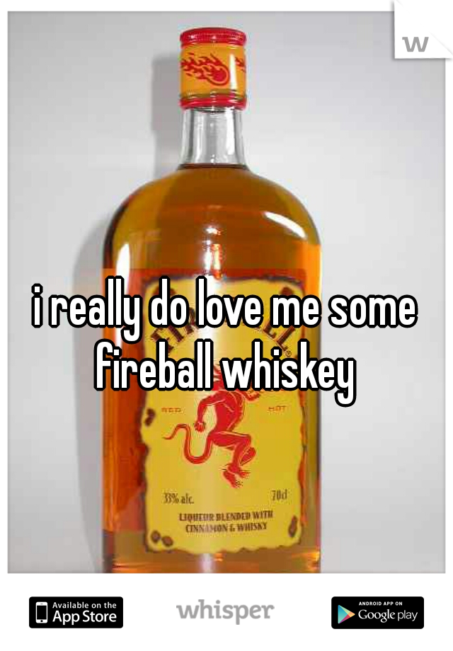 i really do love me some fireball whiskey