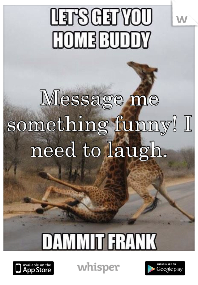 Message me something funny! I need to laugh.