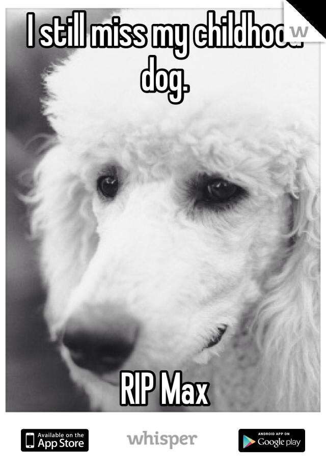 I still miss my childhood dog.        RIP Max 1996-2010