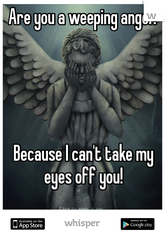 Are you a weeping angel?       Because I can't take my eyes off you!