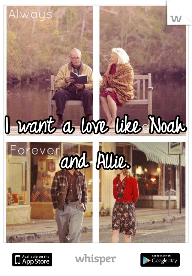 I want a love like Noah and Allie.