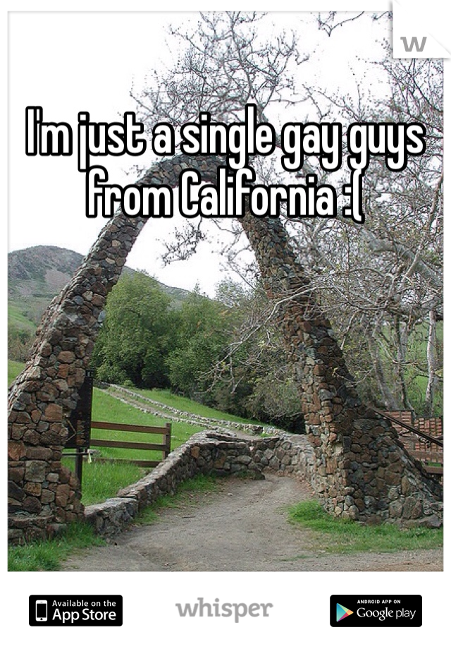 I'm just a single gay guys from California :(