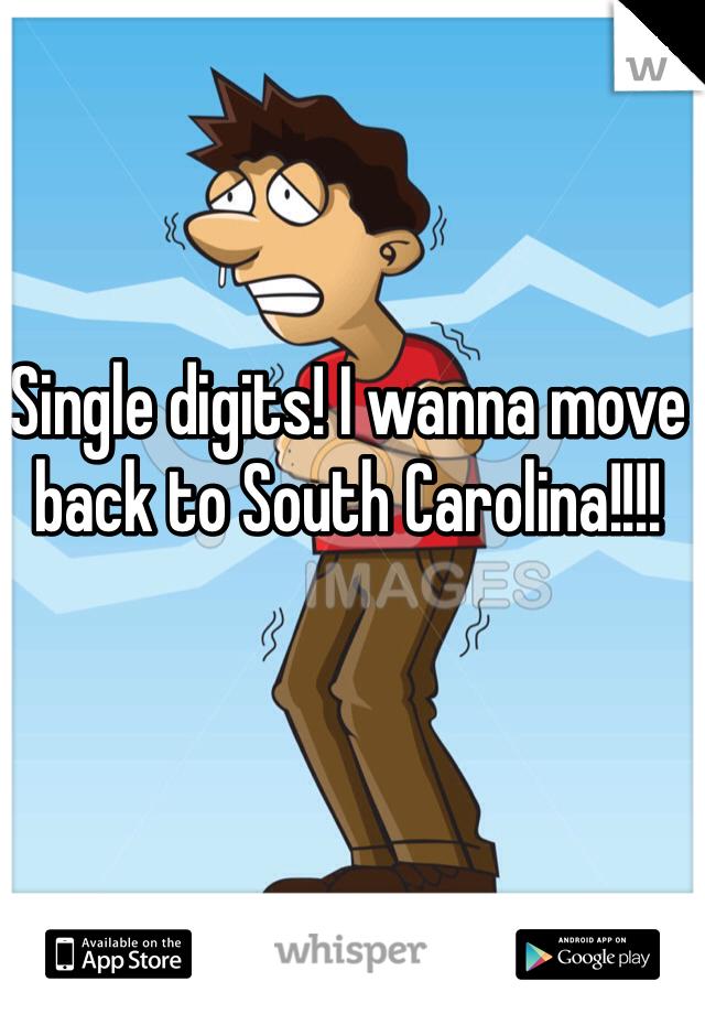 Single digits! I wanna move back to South Carolina!!!!