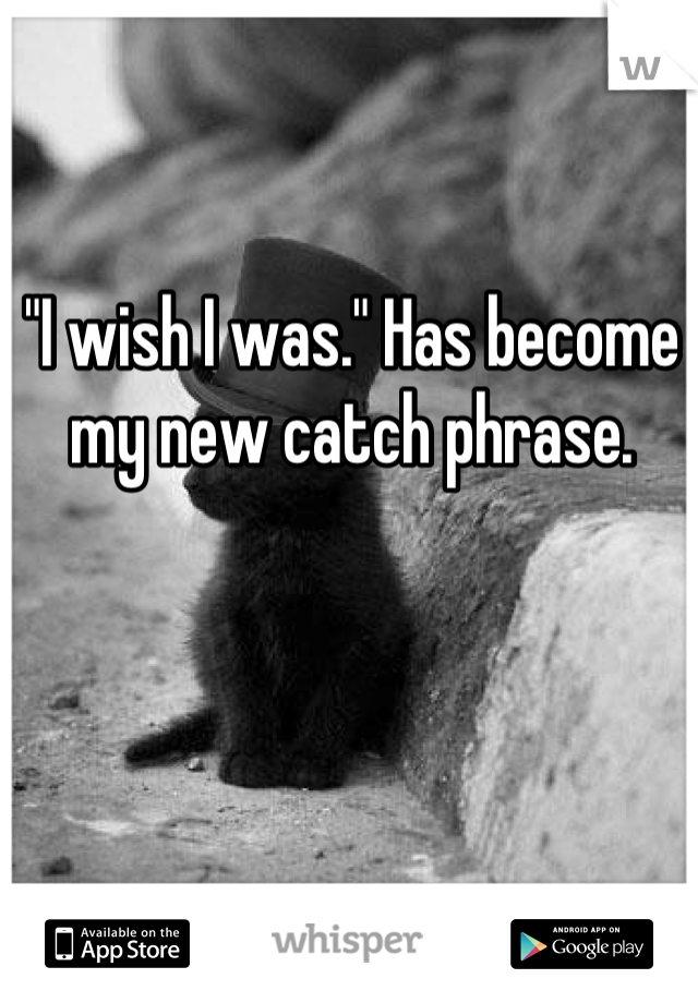 """I wish I was."" Has become my new catch phrase."