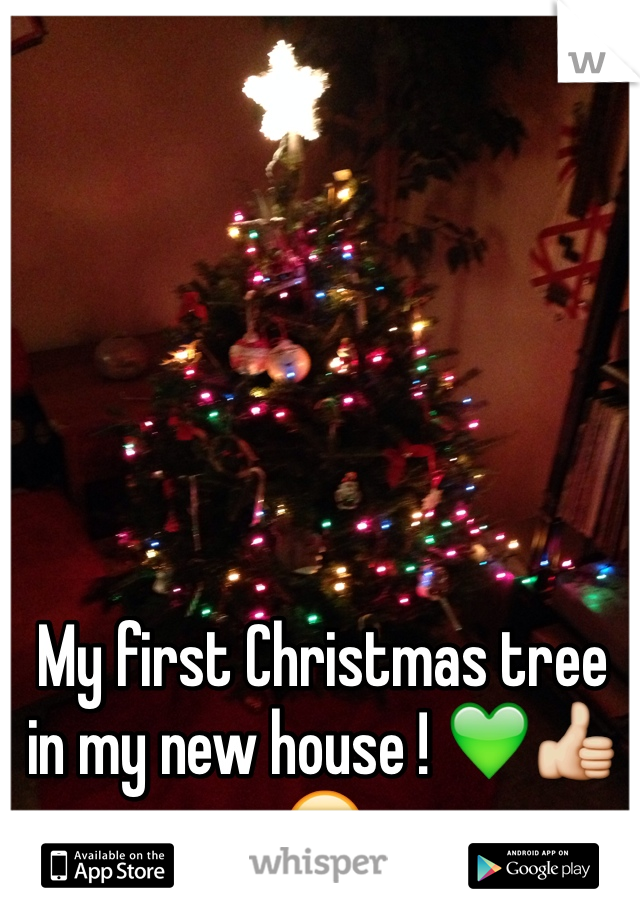 My first Christmas tree in my new house ! 💚👍😄