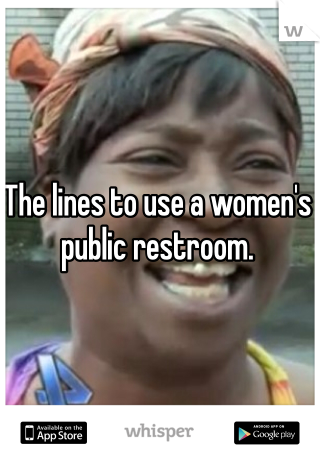 The lines to use a women's public restroom.