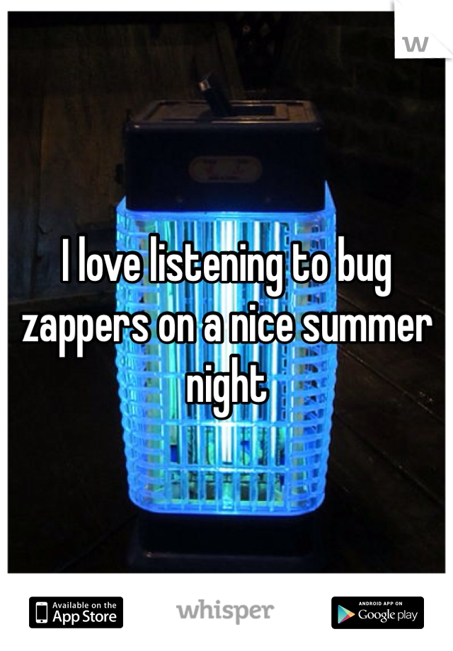 I love listening to bug zappers on a nice summer night