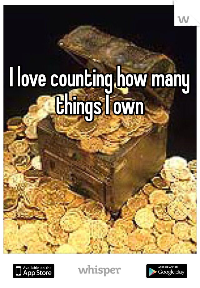 I love counting how many things I own