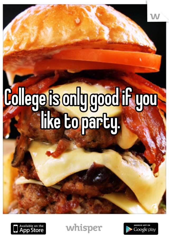 College is only good if you like to party.